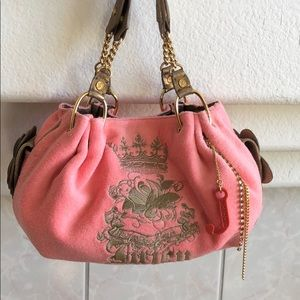 Juicy Couture Rare Pink Paradise Fluffy Bag EUC